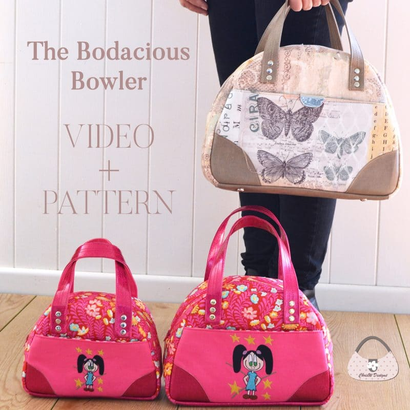 The Bodacious Bowler Bags Pattern + Video Course