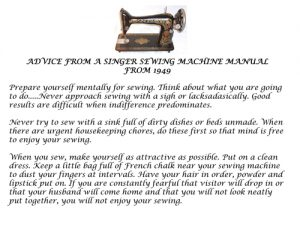 Sewing Machine Manual Needs an update!